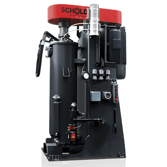 Schold vertical shot media mill pressurized
