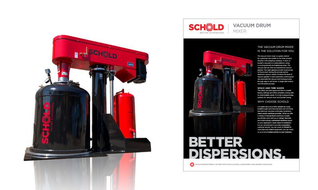 Schold 55 gallon drum vacuum mixing blending
