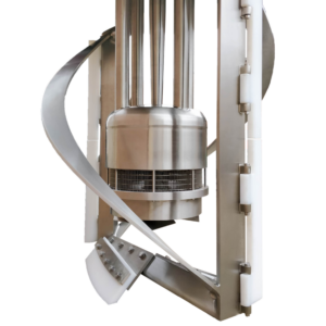 Immersion Mill Head Sweeper basket sidewall poly scrapers