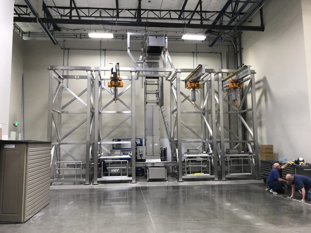 automatic bulk bag unloader hoist
