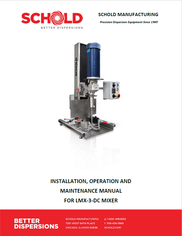 Schold LMX Operation Manual